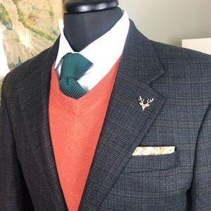 Oscar de la Renta. 40R Blazer - Black 100% wool